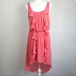 Lily Rose ruffle  high/low pink dress